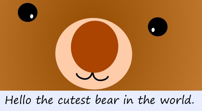 Cutest bear in the world 1