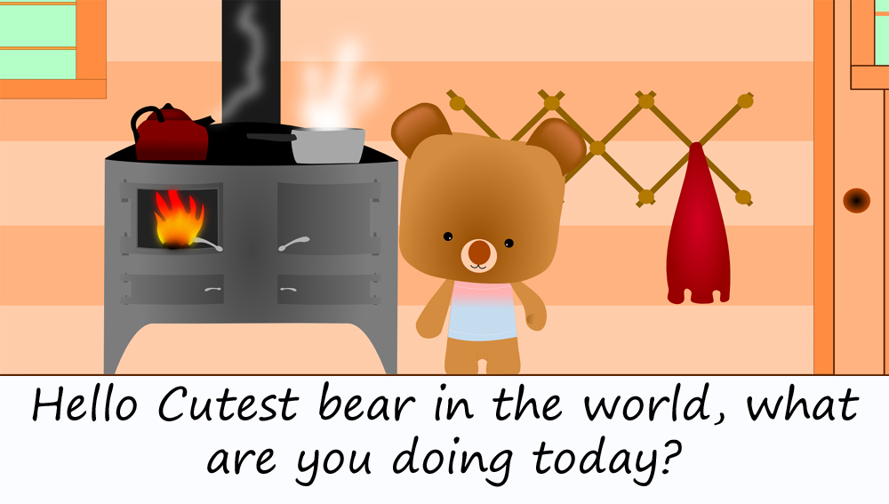 cute bear cooking1