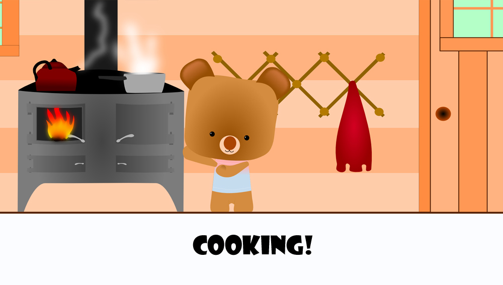 cute bear cooking2