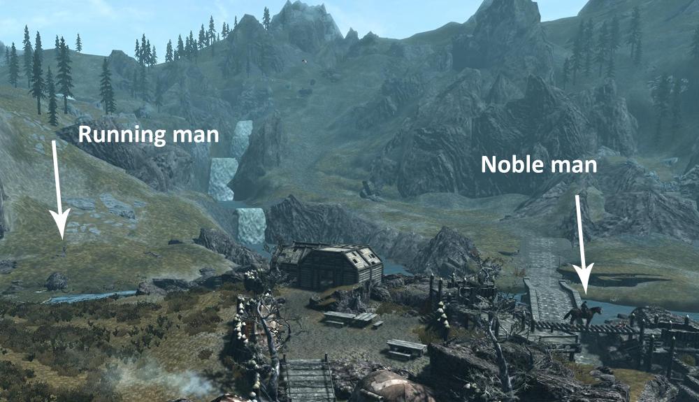 Nobleman on a horse on a bridge!