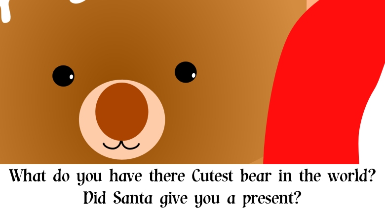 Cutest bear in the world christmas